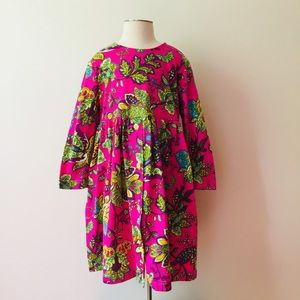 Hanna Andersson | Pink Floral Button Knit Dress